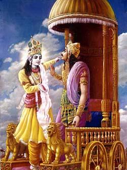 Baghavad Gita - Ajurna and Krishna